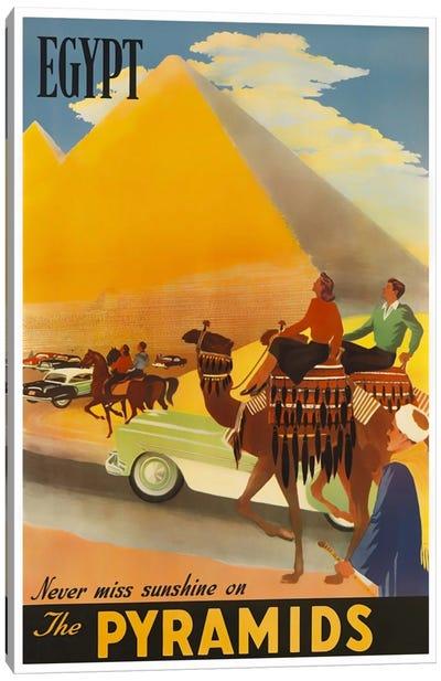 Egypt: Never Miss Sunshine On The Pyramids Canvas Art Print