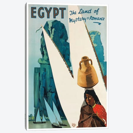 Egypt: The Land Of Mystery & Romance 3-Piece Canvas #LIV84} by Unknown Artist Canvas Print