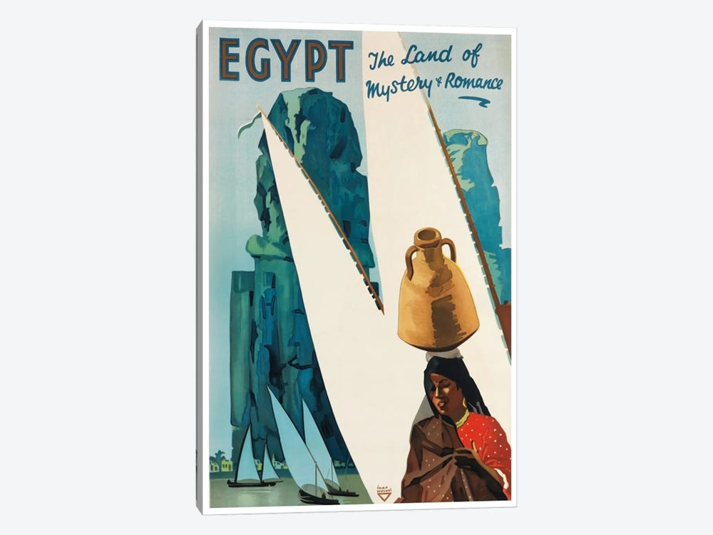 Egypt: The Land Of Mystery & Romance by Unknown Artist 1-piece Canvas Artwork