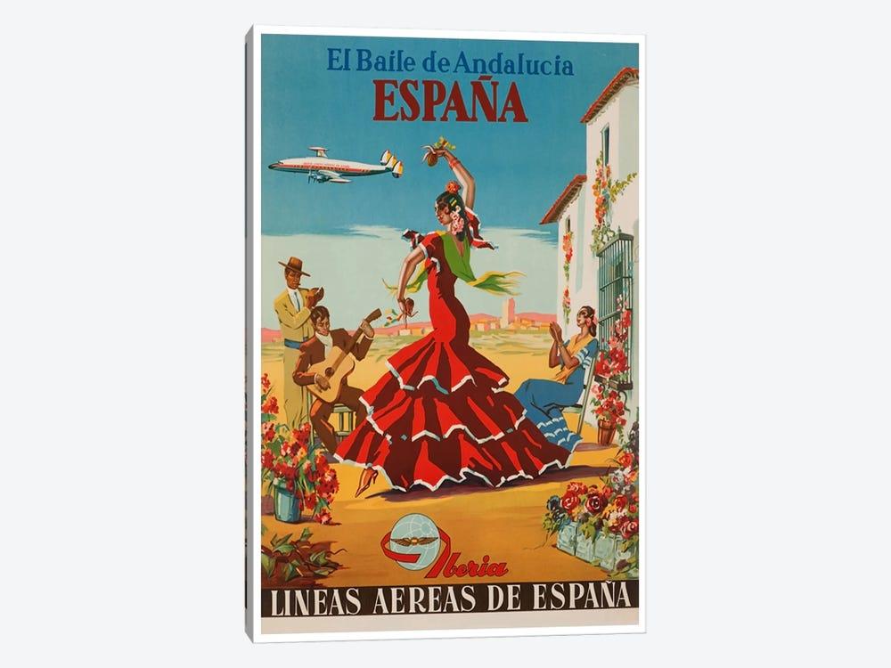 El Baile de Andalucia, Espana - Lineas Aereas de Espana by Unknown Artist 1-piece Canvas Print