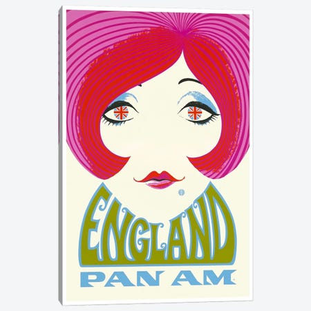 England - Pan Am Canvas Print #LIV86} by Unknown Artist Canvas Art Print