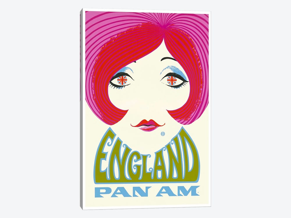 England - Pan Am by Unknown Artist 1-piece Canvas Art