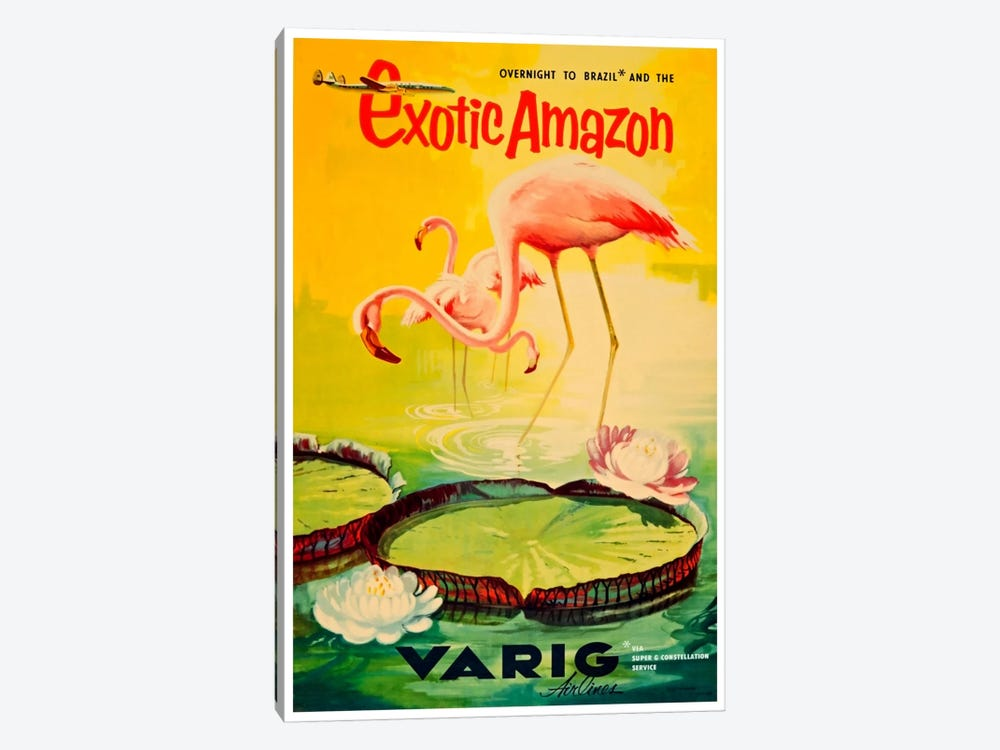 Exotic Amazon - Varig Airlines by Unknown Artist 1-piece Canvas Print
