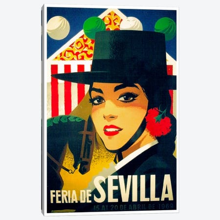 Feria de Sevilla, 15-20 de Abril de 1969 Canvas Print #LIV88} by Unknown Artist Canvas Art