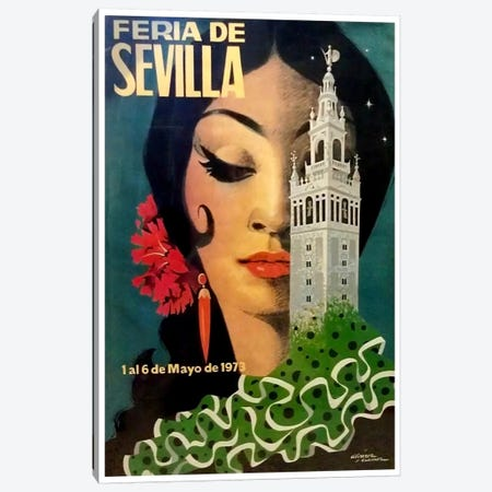 Feria de Sevilla, 1-6 de Mayo de 1973 Canvas Print #LIV89} by Unknown Artist Canvas Art