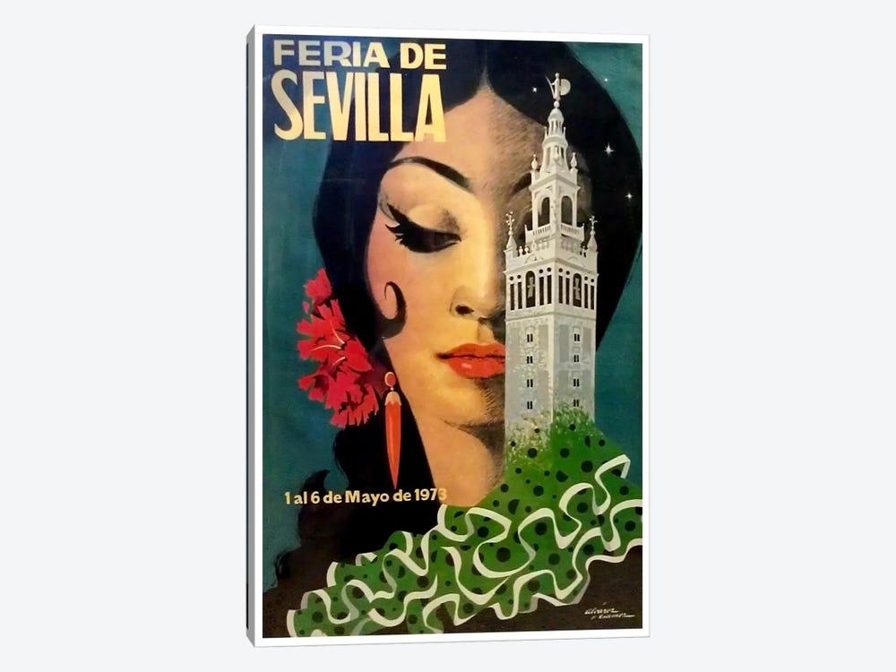 Feria de Sevilla, 1-6 de Mayo de 1973 by Unknown Artist 1-piece Canvas Print