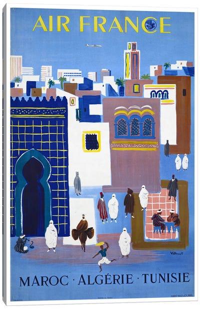 Air France - Morocco, Algeria, Tunisia Canvas Art Print