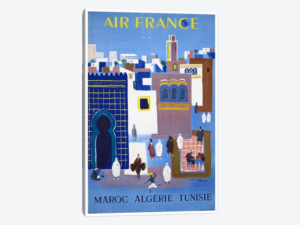 Air France - Morocco, Algeria, Tunisia by Unknown Artist 1-piece Canvas Wall Art