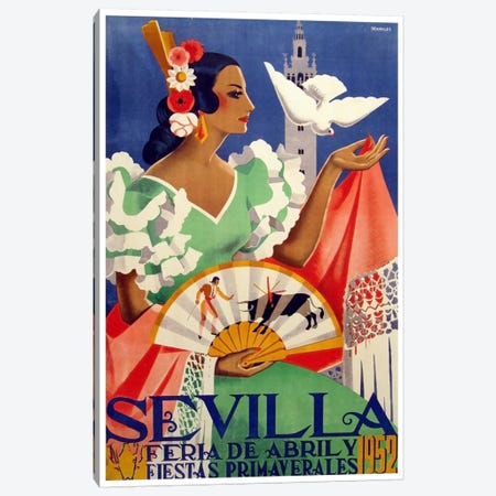 Feria de Sevilla, Abril de 1952 Canvas Print #LIV90} by Unknown Artist Art Print