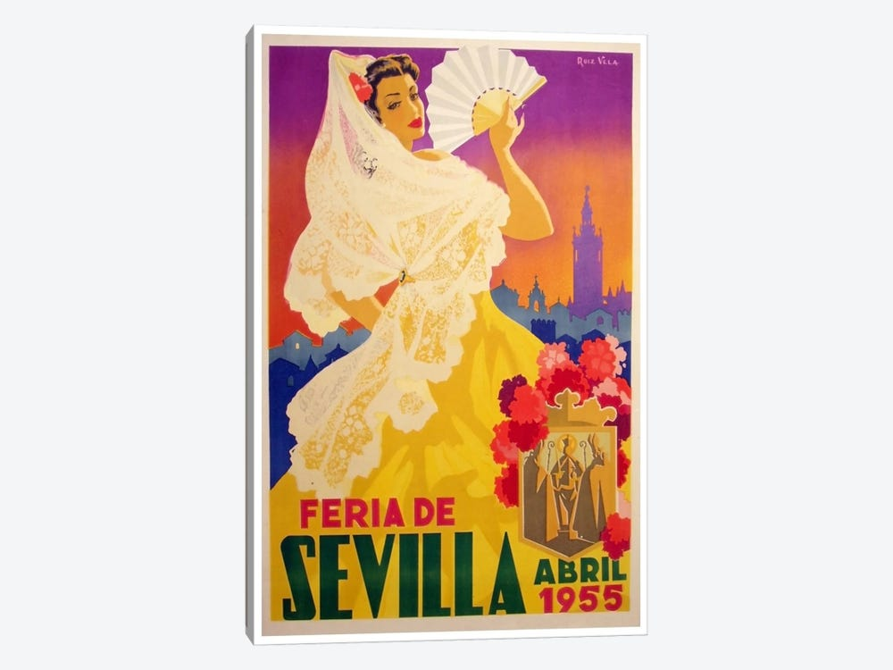 Feria de Sevilla, Abril de 1955 1-piece Canvas Artwork
