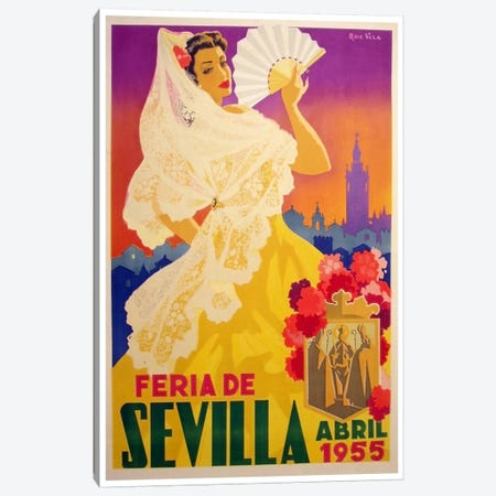 Feria de Sevilla, Abril de 1955 Canvas Print #LIV91} by Unknown Artist Canvas Art Print