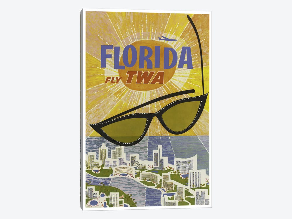 Florida - Fly TWA 1-piece Canvas Print