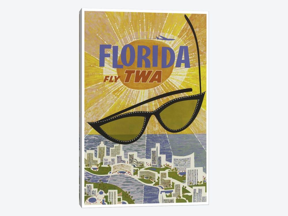Florida - Fly TWA by Unknown Artist 1-piece Canvas Print