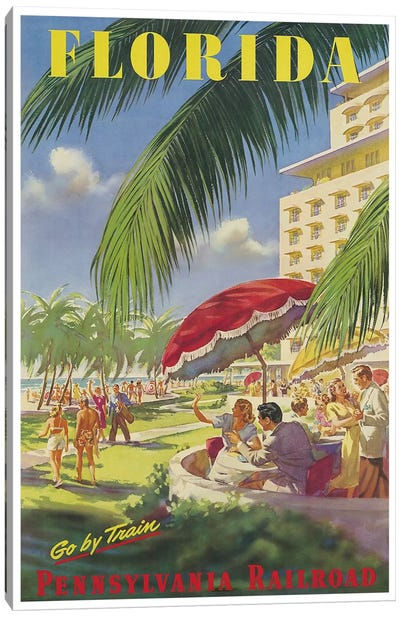 Florida - Pennsylvania Railroad Canvas Art Print
