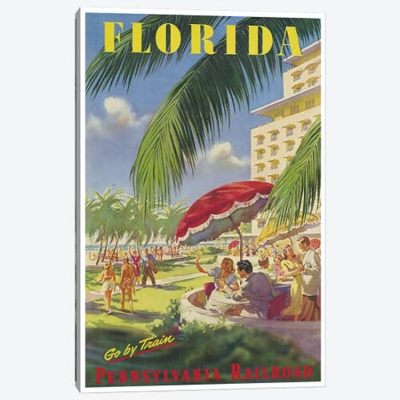 Florida - Pennsylvania Railroad Canvas Print #LIV95} by Unknown Artist Canvas Wall Art