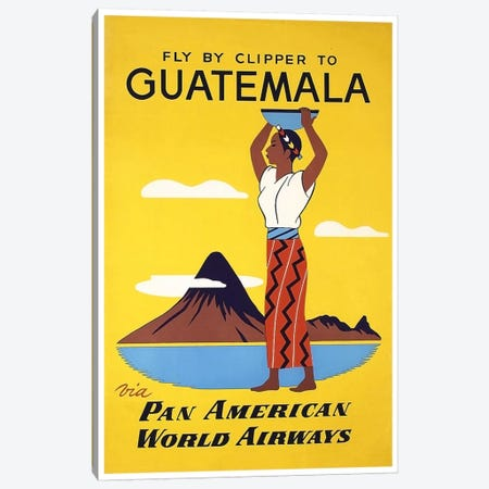Fly By Clipper To Guatemala Via Pan American Canvas Print #LIV96} by Unknown Artist Canvas Art