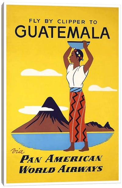 Fly By Clipper To Guatemala Via Pan American Canvas Print #LIV96
