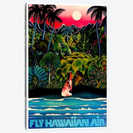 Fly Hawaiian Air Canvas Print #LIV98} by Unknown Artist Canvas Print