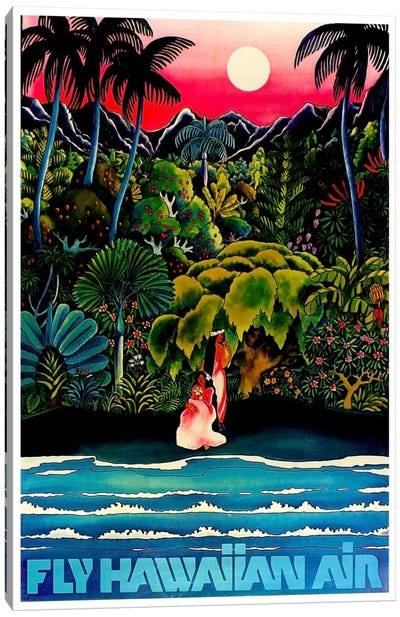 Fly Hawaiian Air Canvas Art Print
