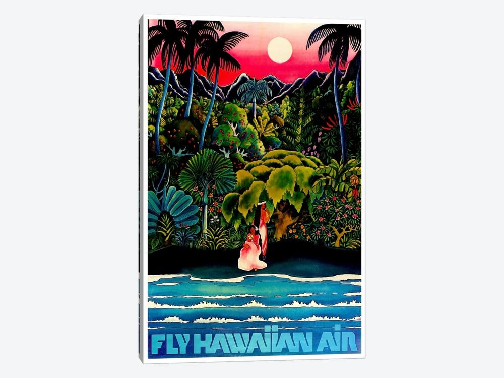 Fly Hawaiian Air by Unknown Artist 1-piece Canvas Art Print