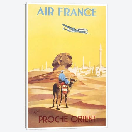 Air France - Proche Orient (Near East) I Canvas Print #LIV9} by Unknown Artist Canvas Art Print