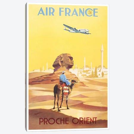 Air France - Proche Orient (Near East) I Canvas Print #LIV9} by Unknown Artist Canvas Art Print