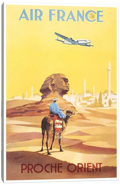 Air France - Proche Orient (Near East) I Canvas Art Print
