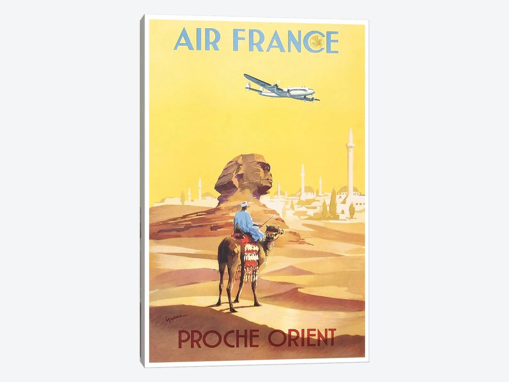 Air France - Proche Orient (Near East) I 1-piece Canvas Art Print