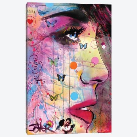 Je Táime Canvas Print #LJR101} by Loui Jover Canvas Artwork