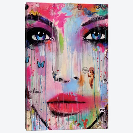 Never Canvas Print #LJR102} by Loui Jover Canvas Artwork