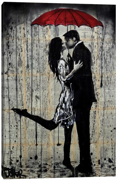 Rainy Hearts Canvas Art Print