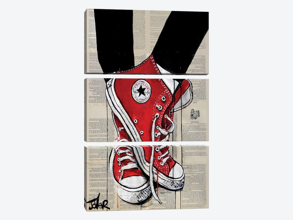 Redd by Loui Jover 3-piece Canvas Print