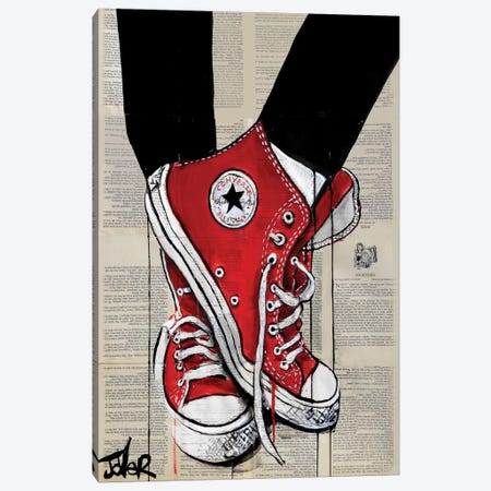 Redd Canvas Print #LJR105} by Loui Jover Canvas Art Print