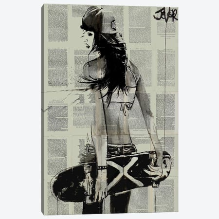 Sk8ter Gurl Canvas Print #LJR107} by Loui Jover Canvas Art Print