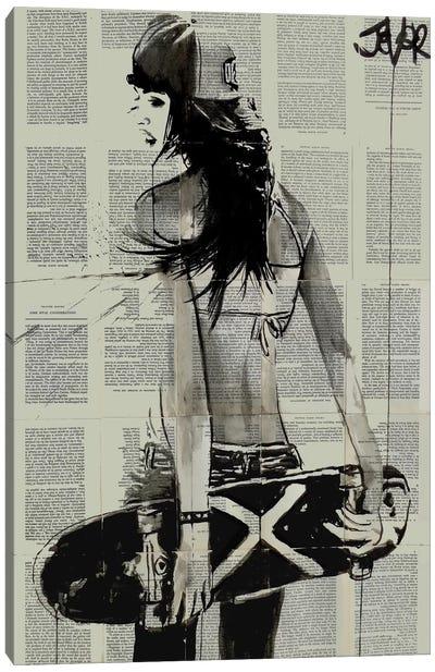 Sk8ter Gurl Canvas Print #LJR107