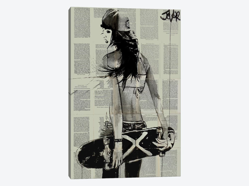 Sk8ter Gurl by Loui Jover 1-piece Canvas Print