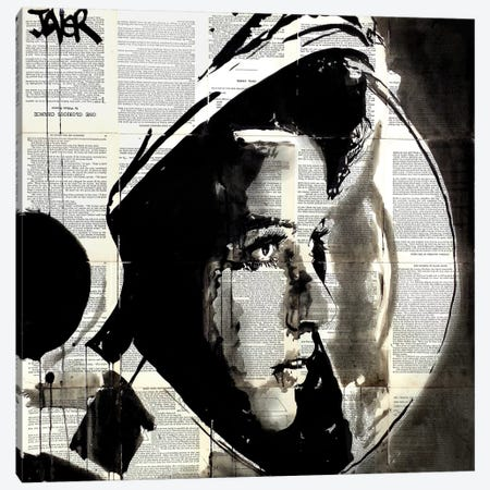 The Astronaut Canvas Print #LJR109} by Loui Jover Canvas Artwork