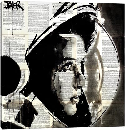 The Astronaut Canvas Print #LJR109
