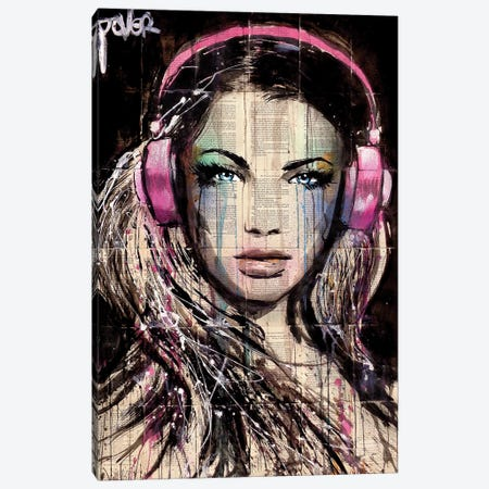 DJ Canvas Print #LJR116} by Loui Jover Canvas Artwork