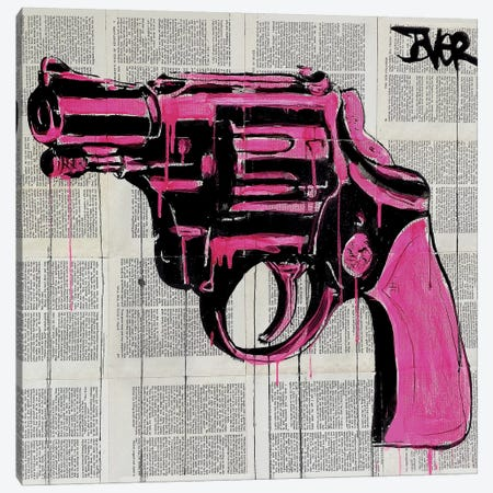 Pop Gun Canvas Print #LJR122} by Loui Jover Canvas Artwork
