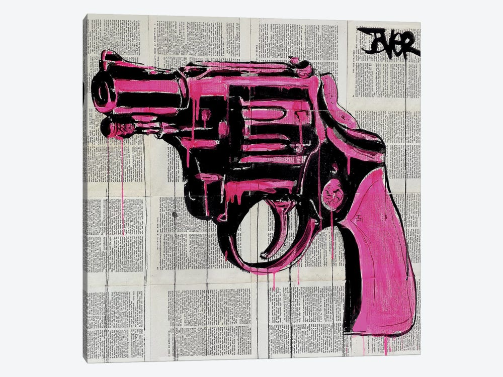 Pop Gun by Loui Jover 1-piece Canvas Artwork