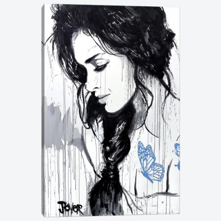 The Blue Tattoo Canvas Print #LJR127} by Loui Jover Art Print
