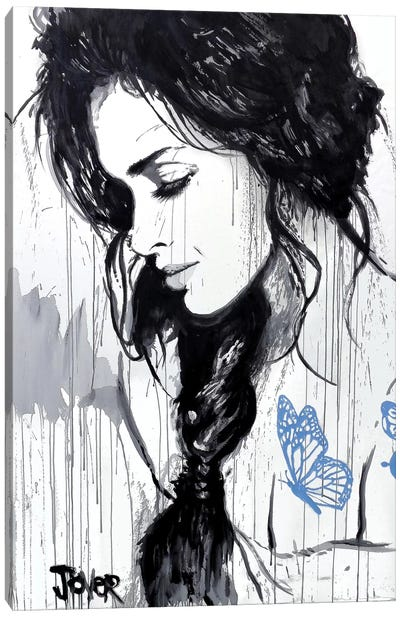 The Blue Tattoo Canvas Art Print