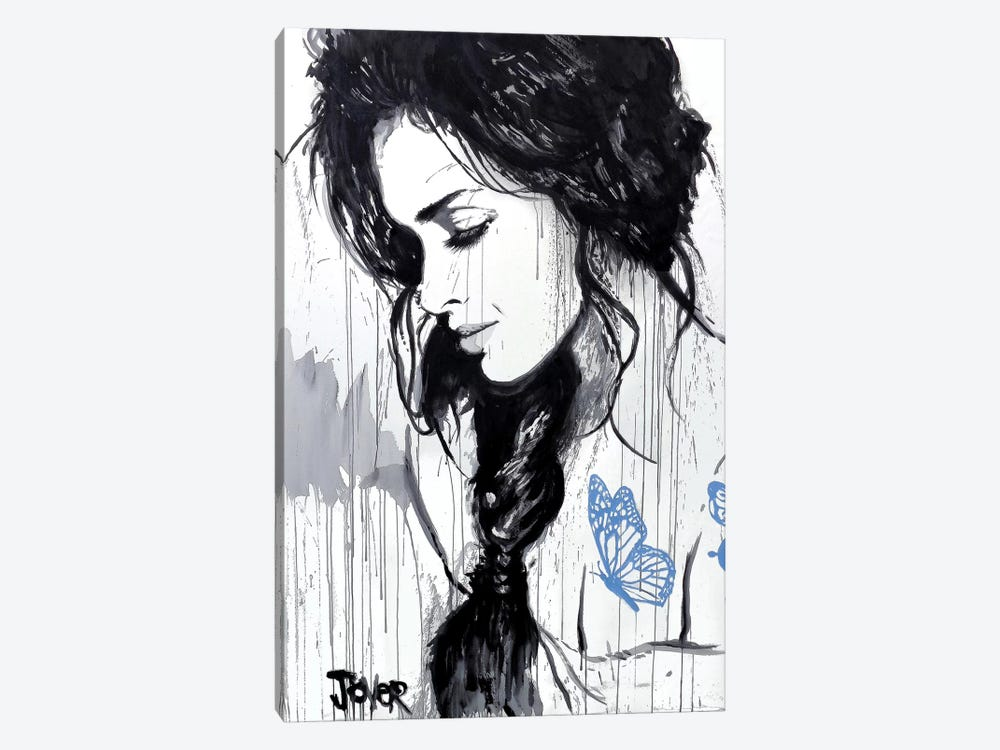 The Blue Tattoo by Loui Jover 1-piece Canvas Art Print