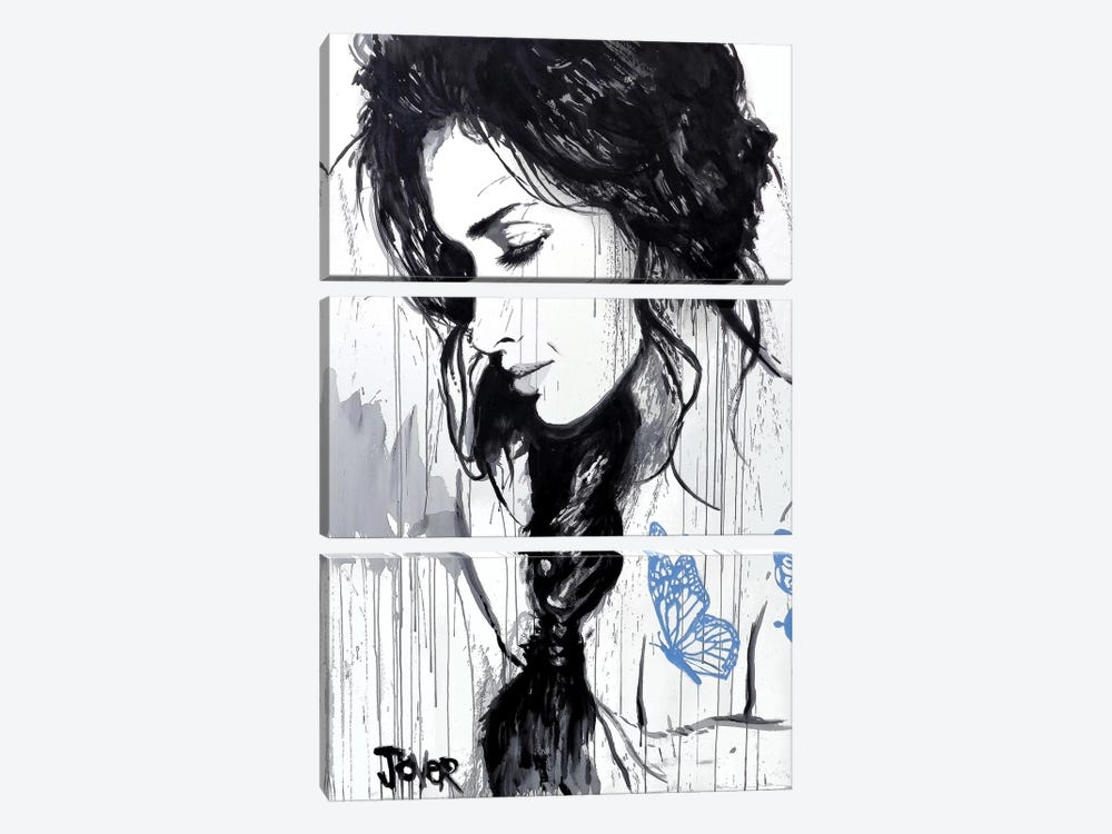 The Blue Tattoo by Loui Jover 3-piece Art Print