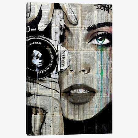 Zoom Canvas Print #LJR131} by Loui Jover Art Print