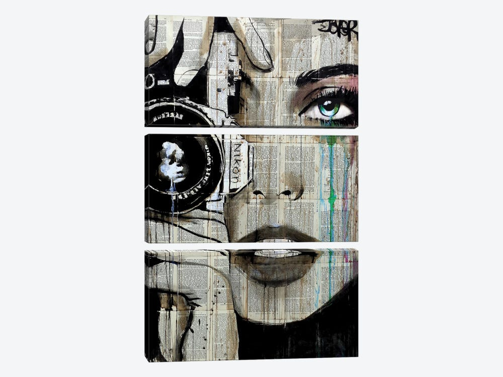 Zoom by Loui Jover 3-piece Canvas Art