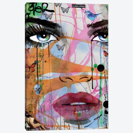 Not Everything Canvas Print #LJR138} by Loui Jover Art Print