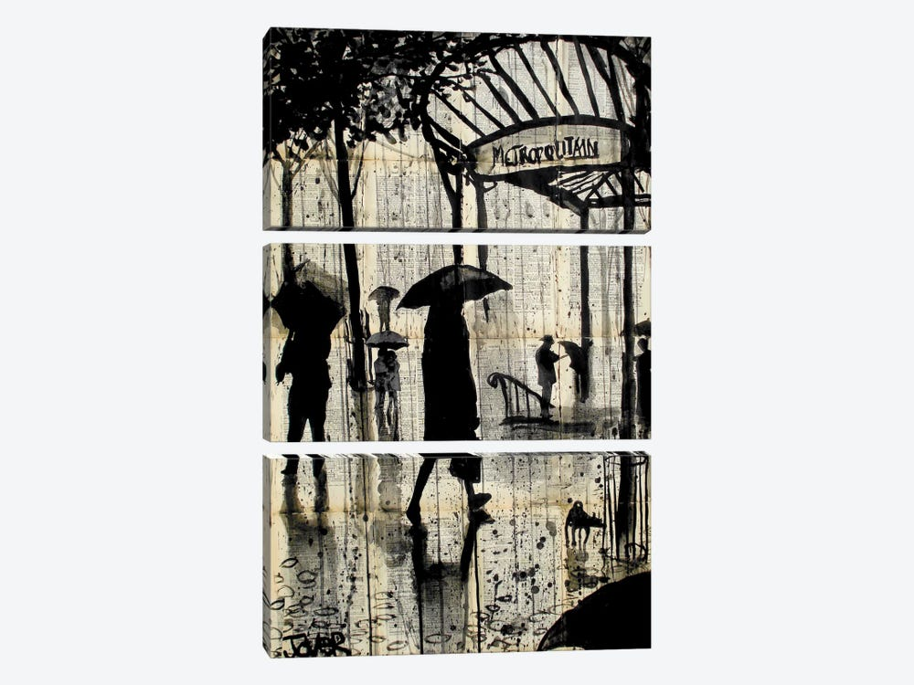 Metropolitain by Loui Jover 3-piece Canvas Art Print