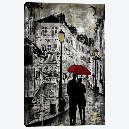 Rainy Promenade Canvas Print #LJR141} by Loui Jover Canvas Artwork